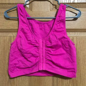 Fruit of the Loom pink front clasp sports bra 48